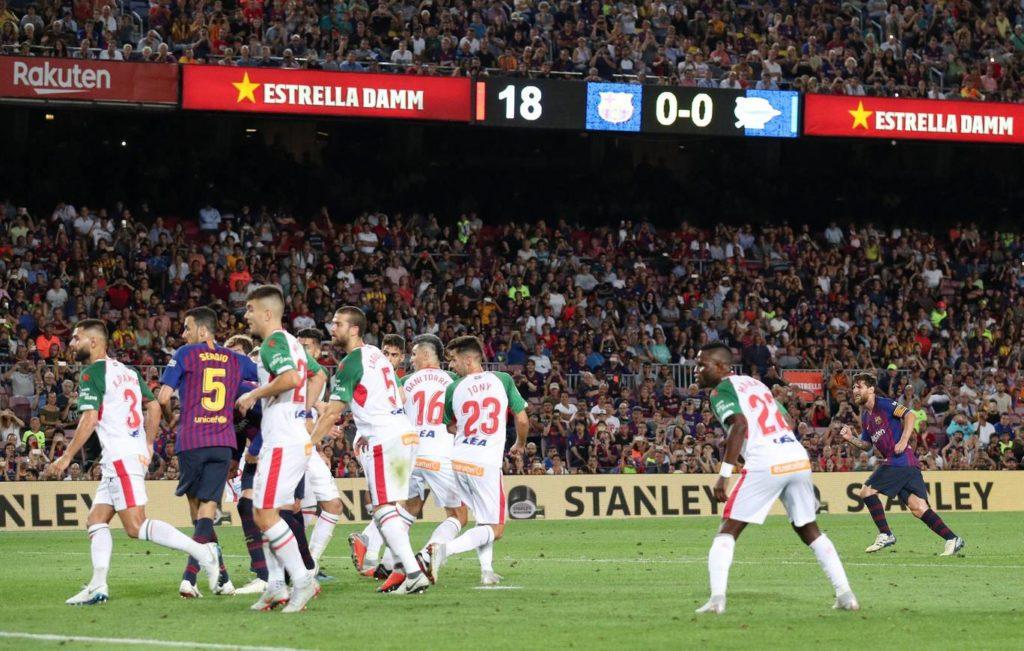 Mubarak Wakaso features as Deportivo Alaves begin La Liga season with defeat at Barcelona