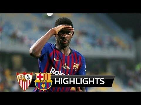 Sevilla vs Barcelona 1-2 - All Goals & Extended Highlights - Spanish Super Cup 12/08/2018 HD