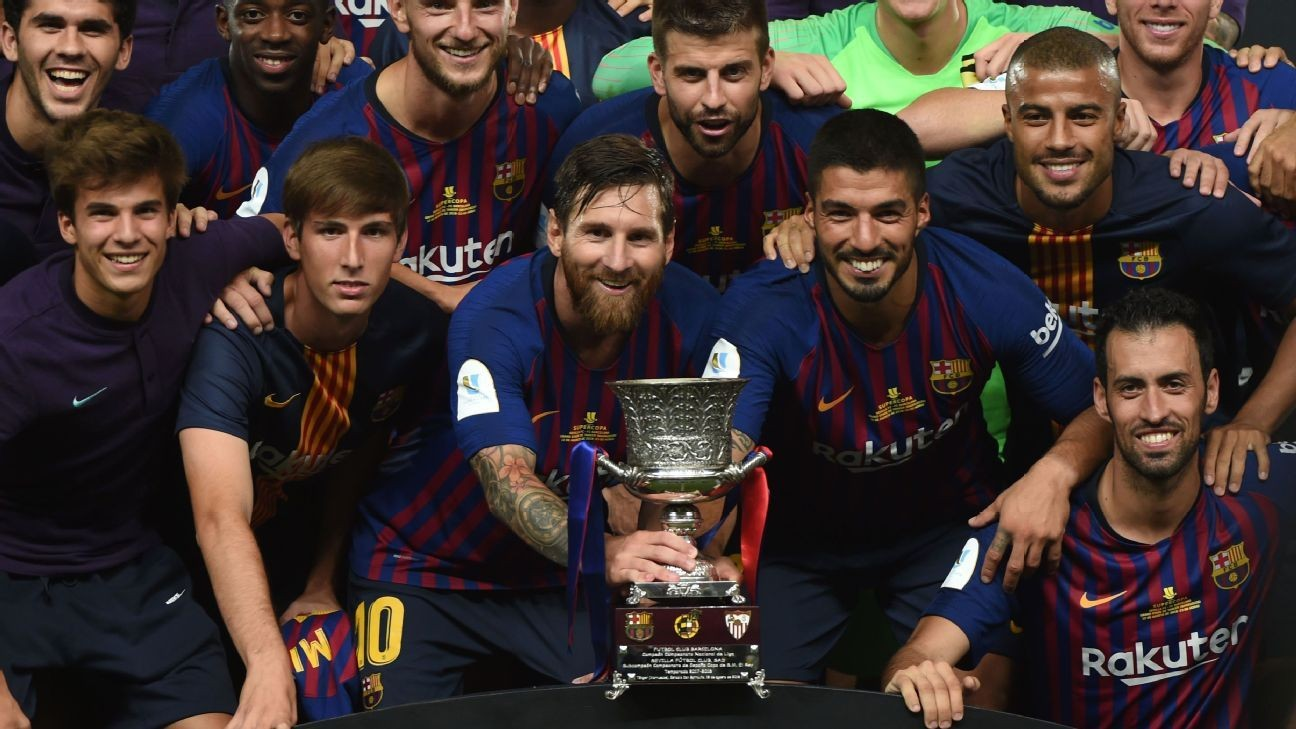 Ousmane Dembele rises to the challenge as Barcelona lift record 13th Spanish Super Cup