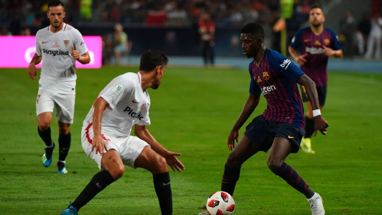 Ousmane Dembele, Marc-Andre ter Stegen lead Barcelona to Spanish Super Cup glory