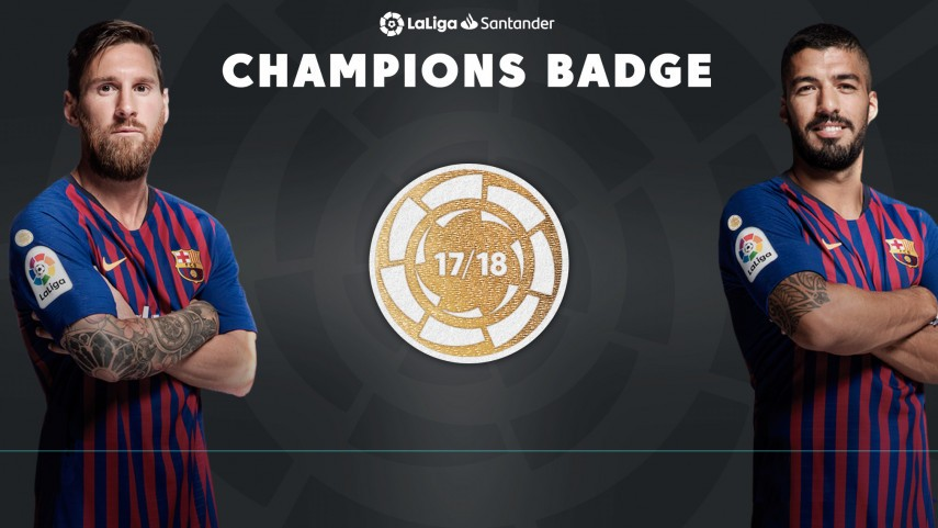 FC Barcelona will wear a special badge as LaLiga champions ... 0c36e35ffab2a