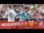 Resumen de Valencia CF vs Atlético de Madrid (1-1)