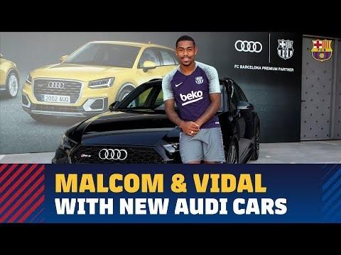 Malcom And Arturo Vidal Get Their New Audi Cars Ghanasoccernet News - New audi cars