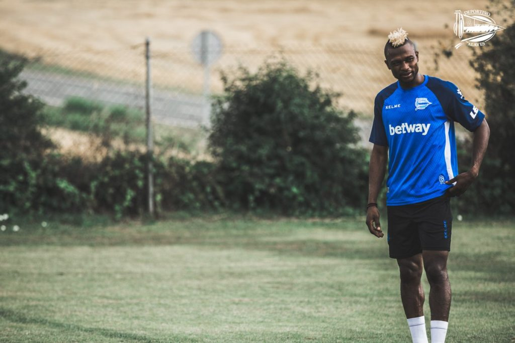 PHOTOS: Ghana forward Patrick Twumasi trains for the first time with Deportivo Alaves