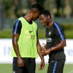 Ghana ace Kwadwo Asamoah welcomes Senegalese forward Keita Balde at Inter Milan