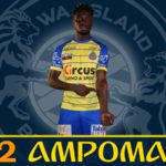 Winger Nana Ampomah rescues Waasland Beveren with equalizer against Charleroi in Belgian top-flight