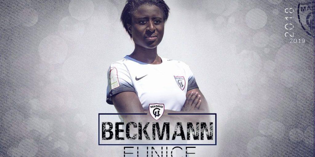 Ghanaian female football star Eunice Beckmann joins Spanish side  Madrid CFF