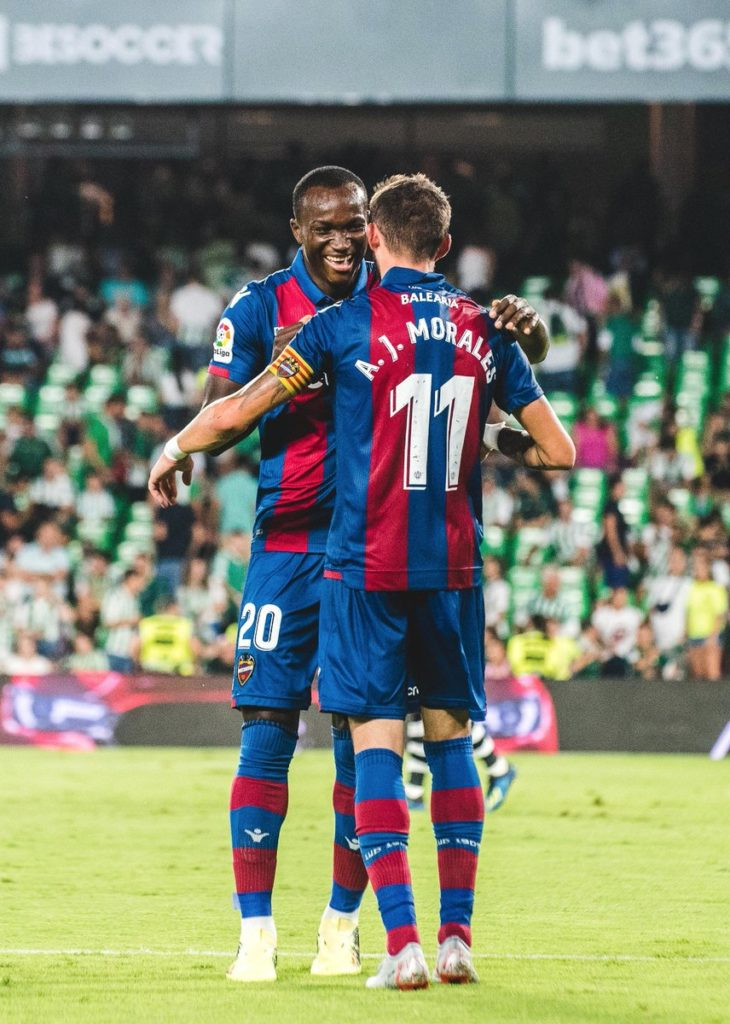 Performance of Ghanaian players abroad: Owusu, Avevor, Ampomah, Anang excel as Dwamena marks Levante debut with super assist