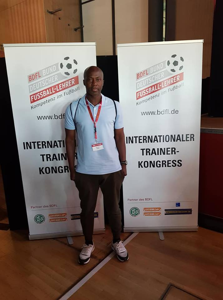 PHOTOS: Assistant Black Stars Coach Ibrahim Tanko in Germany for International Coaches Congress