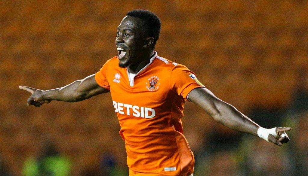 In-form Ghanaian forward Joe Dodoo bags brace for Blackpool in Checkatrade Trophy win over Accrington Stanley