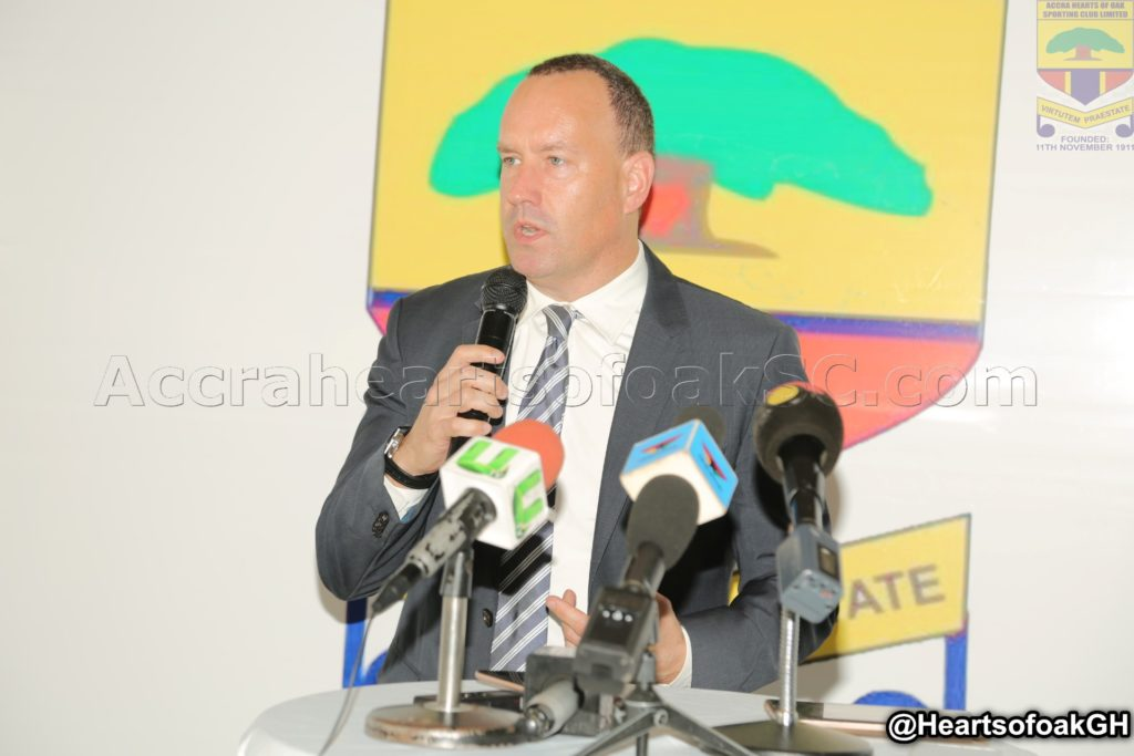 No German coach for Hearts of Oak - MD Mark Noonan reveals