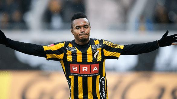 WATCH VIDEO: Ghanaian forward Nasiru Mohammed hits a brace as BK Hacken thrash Djurgården IF