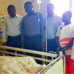 New Asante Kotoko management visit injured defender Daniel Darkwah after successful surgery