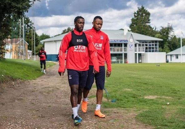 Jordan Ayew joins Black Stars defender Schlupp at training ahead of Crystal Palace debut