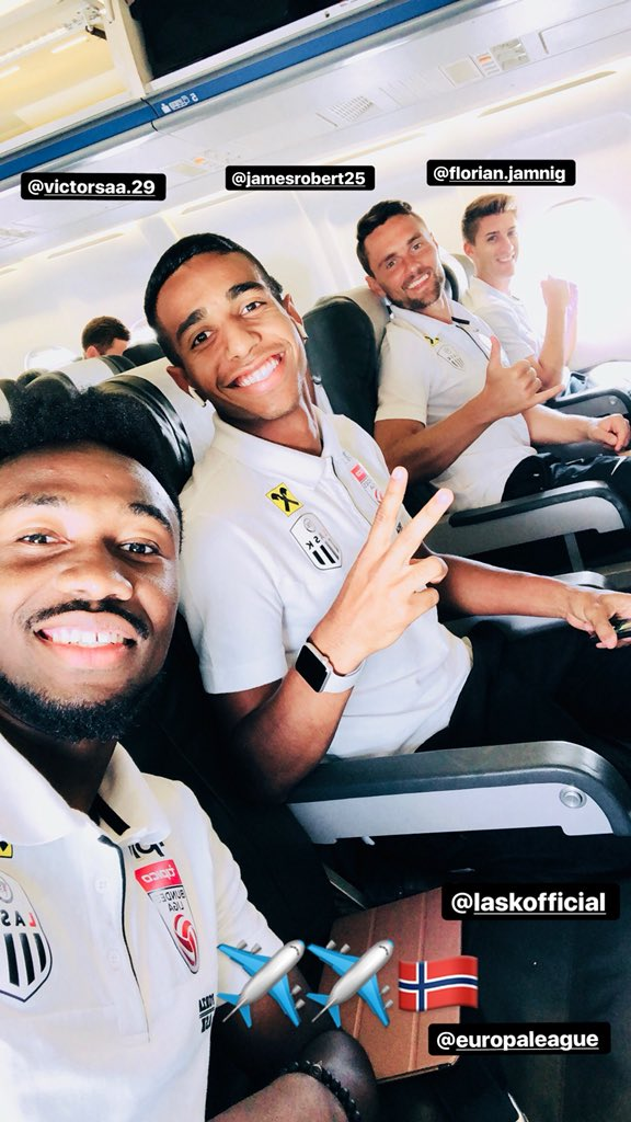 Samuel Tetteh travels with LASK Linz for Europa League playoff against Norwegian side Lillestrøm