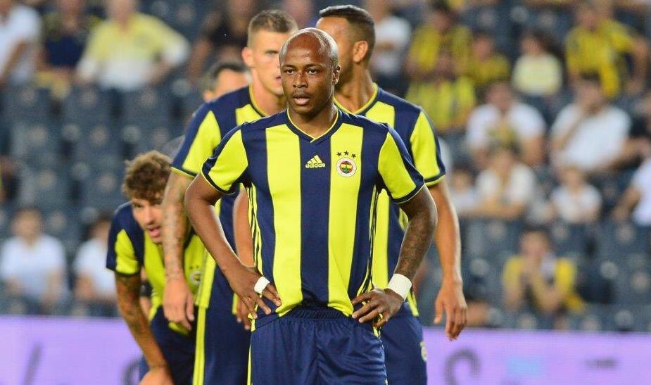 Andre Ayew named in Fenerbahce starting XI for SL Benfica UCL clash