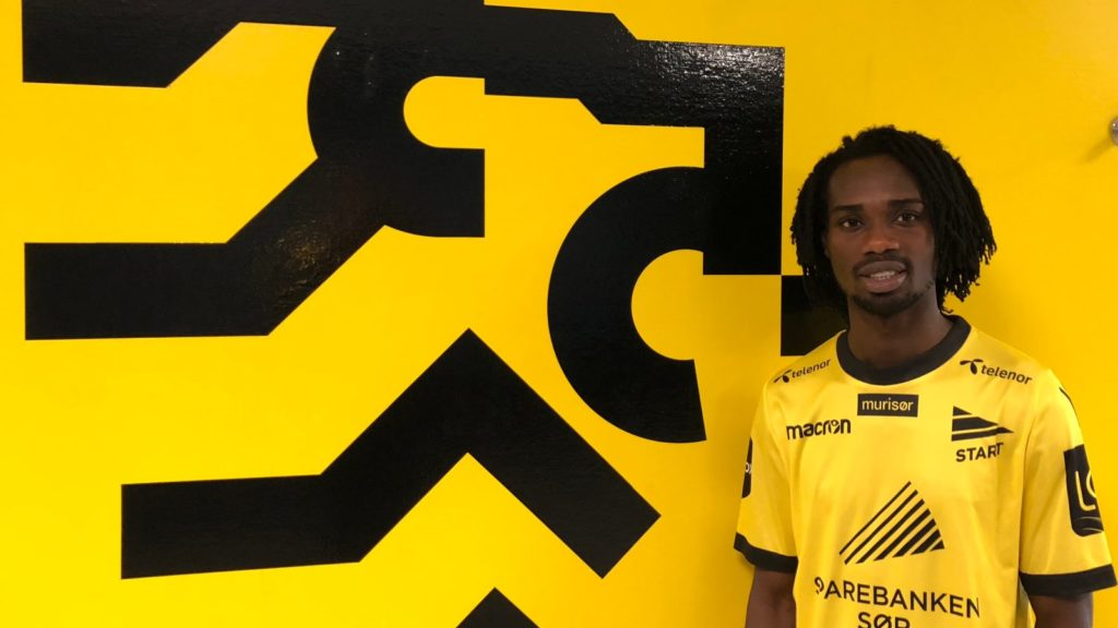 Ibrahim Arafat Mensah joined IK Start on Thursday afternoon