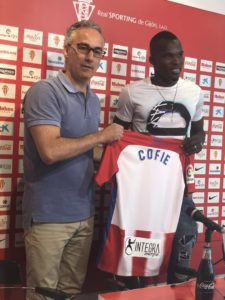 VIDEO: Isaac Cofie expresses gratitude to Genoa after joining Sporting Gijon