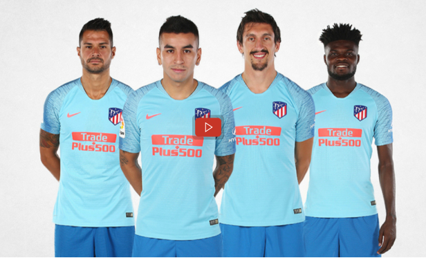 VIDEO: Atletico Madrid use Thomas Partey in new away kit launch