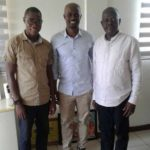 Bechem United administrative manager congratulates George Boateng on his appointment as Blackburn U-13 coach