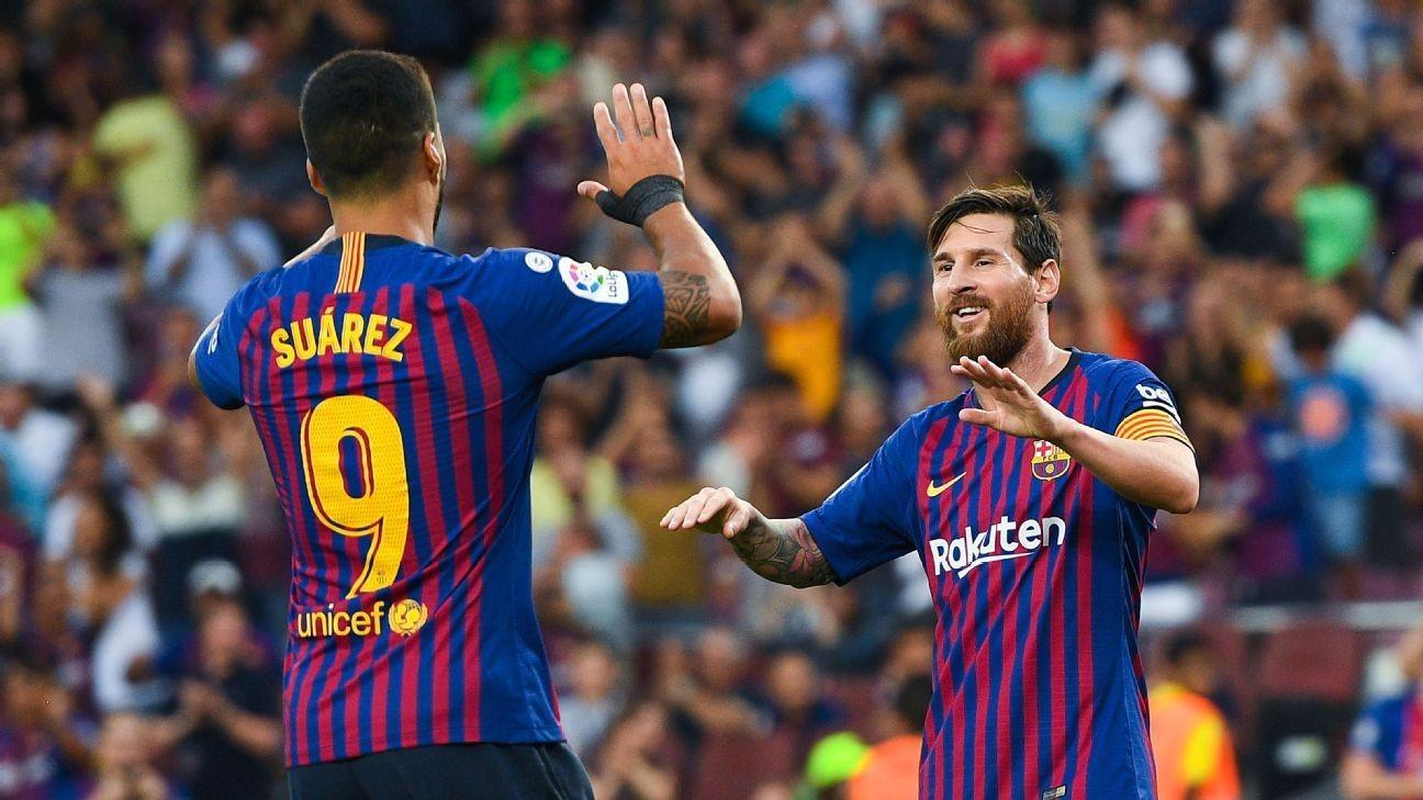 Barcelona S Luis Suarez Admits Lionel Messi Title Talk Has Team Under Pressure Ghana Latest Football News Live Scores Results Ghanasoccernet