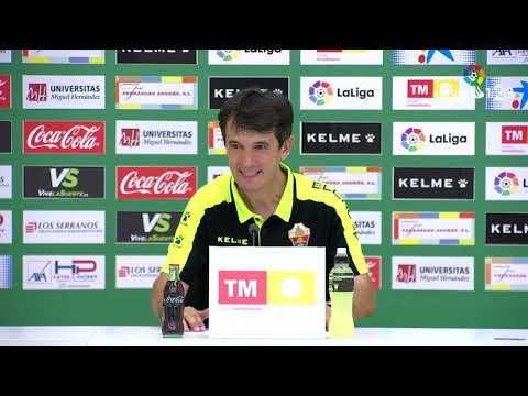 Rueda de prensa de Pacheta tras el Elche CF vs RCD Mallorca