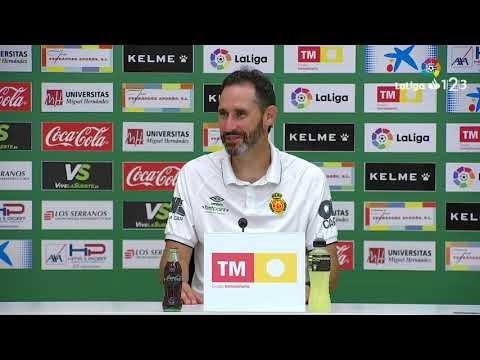 Rueda de prensa de Vicente Moreno tras el Elche CF vs RCD Mallorca