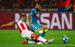 Richmond Boakye in action as Red Star Belgrade frustrate Napoli in Serbia