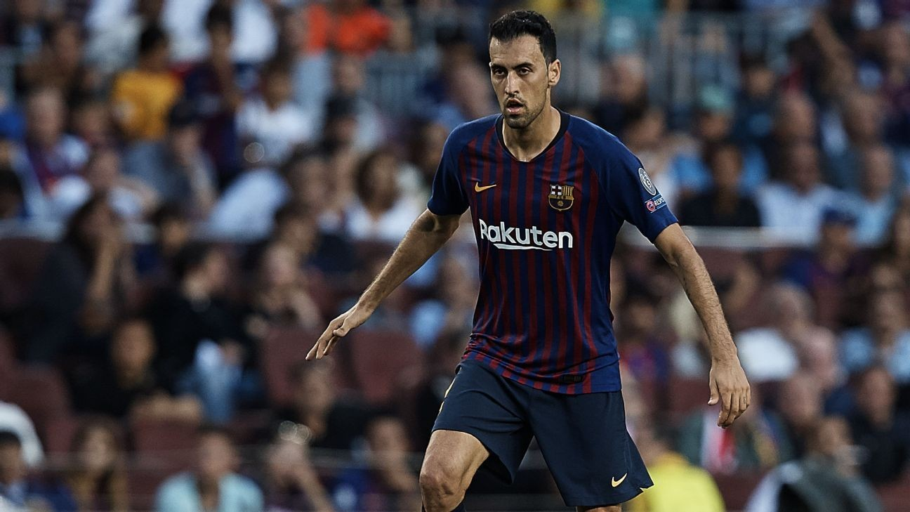 65b5c2f3870c Barcelona s Sergio Busquets to sign new contract in coming weeks - sources