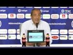 Rueda de prensa de Juan Sabas tras el CF Rayo vs Extremadura UD (1-4)