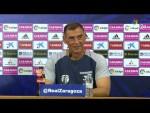 Rueda de prensa de Javi López tras el Real Zaragoza vs CD Lugo (0-2)