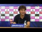 Rueda de prensa de Imanol Idiakez tras el Real Zaragoza vs CD Lugo (0-2)