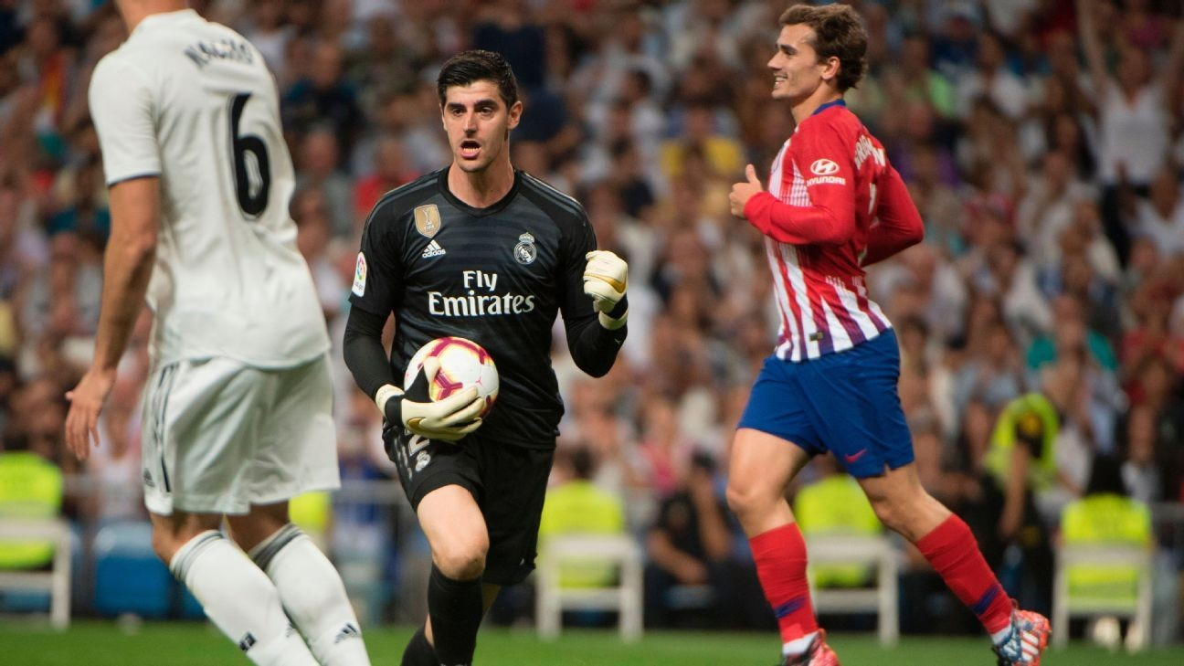 c09fea970 Atletico content with derbi draw as Thibaut Courtois rescues Real Madrid vs.  former side