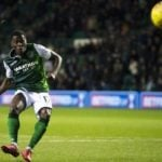 Thomas Agyepong misses final spot-kick as Hibernian are eliminated from Scottish League Cup