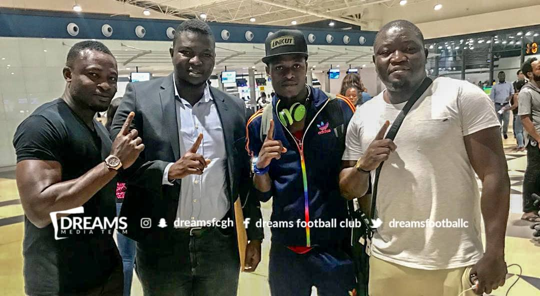 Dreams FC midfielder Patrick Arthur flies out to b...