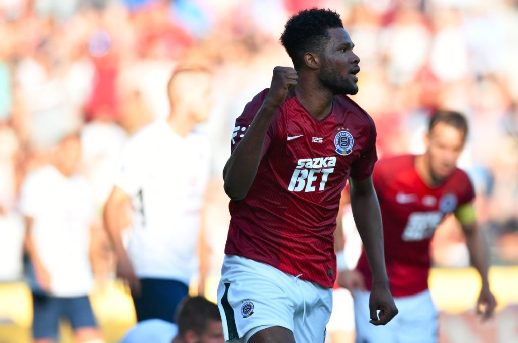 VIDEO: Watch Benjamin Tetteh's sweet half volley for Sparta Prague in draw with Pribram