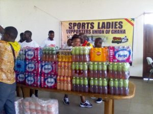Sports Ladies make donations to Black Maidens ahead of World Cup