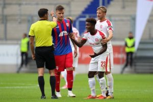 Ghanaian youngster Braydon Manu rages over four match ban in Bundesliga III