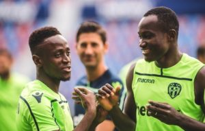 WATCH VIDEO: Emmanuel Boateng surprises Raphael Dwamena on birthday at Levante
