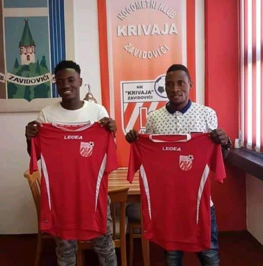 Duo Kingsley Yeboah and Felix Siamen sign for Bosnian lower divsion side NK Krivaja Zavidovići