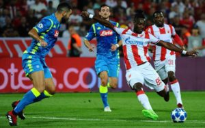 Richmond Boakye-Yiadom satisfied with Red Star Belgrade draw against Napoli in UCL
