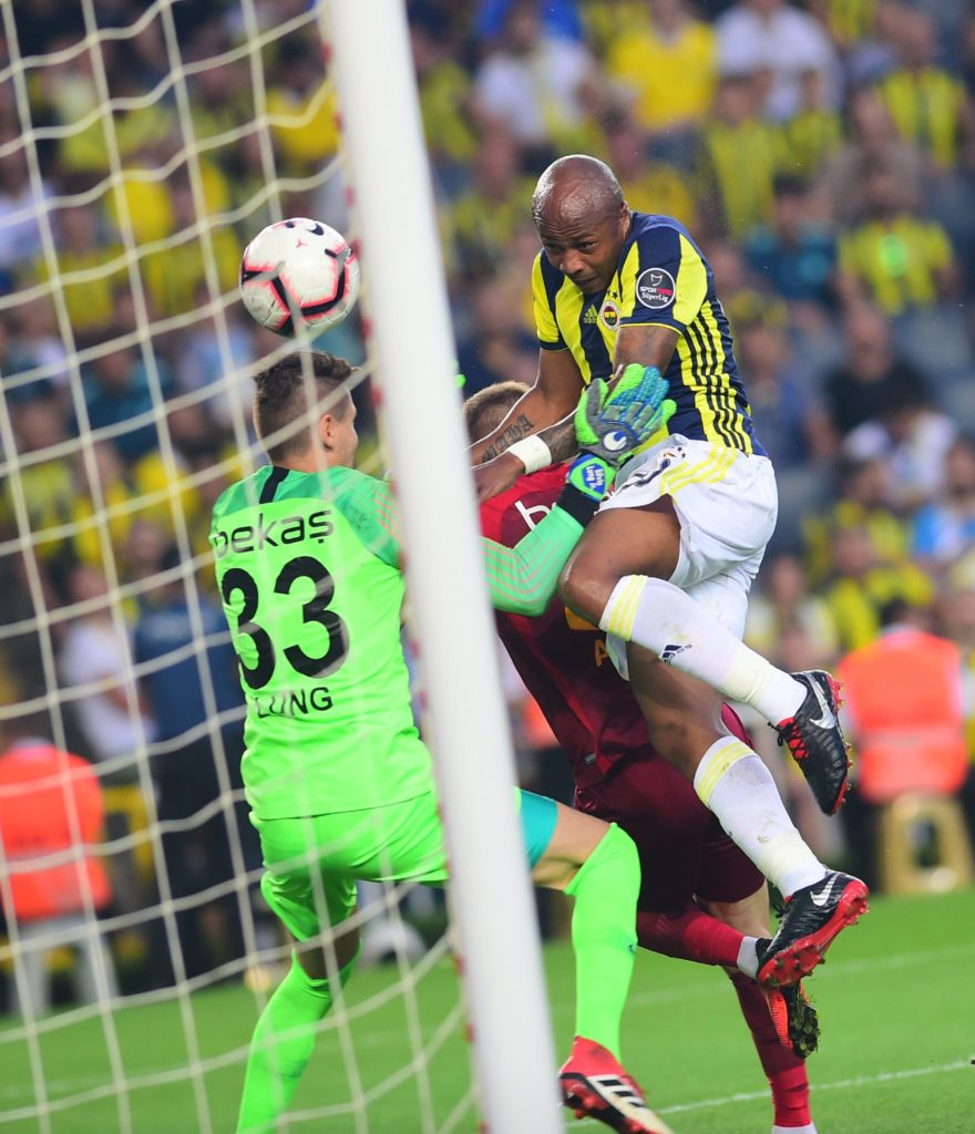 Video: Ghana superstar Andre Ayew scores his first goal for Turkish giants Fenerbahce