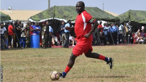 Liberia president George Weah is 'oldest international' ever