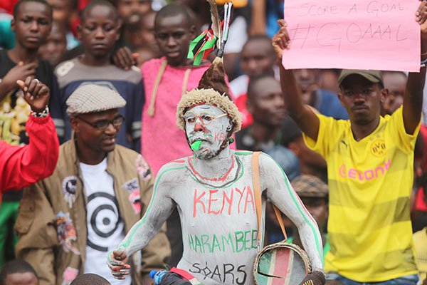 Kenyan fans during their 2019 Africa Cup of Nations Group