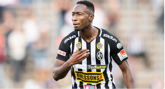 Ghanaian forward Sadat Karim snatches late point for Landskrona BoIS against Norrby IF