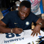 PHOTOS: Kwadwo Asamoah signs autographs as Inter Milan launch new third shirt