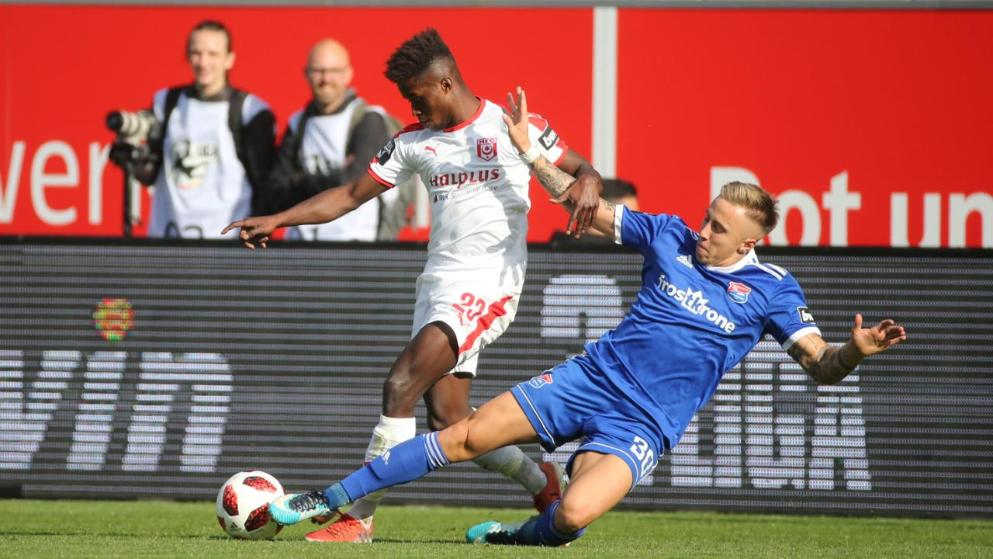 Ghanaian youngster Braydon Manu makes suspension return for Halleschen FC in Germany