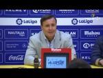 Rueda de prensa de Cristóbal Parralo tras el AD Alcorcón vs Granada CF (1-0)