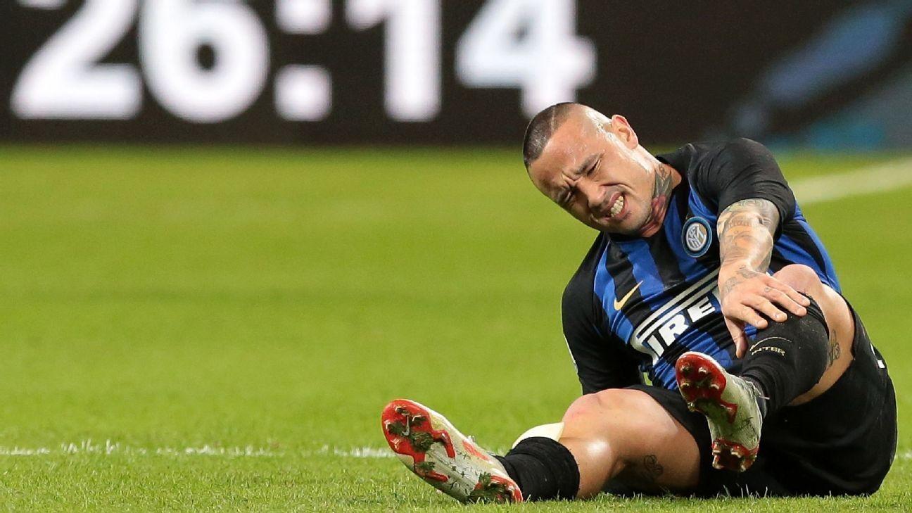 Inter Milan's Radja Nainggolan set for spell on sidelines after spraining ankle