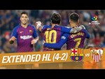 FC Barcelona vs Sevilla FC (4-2) - Extended Highlights
